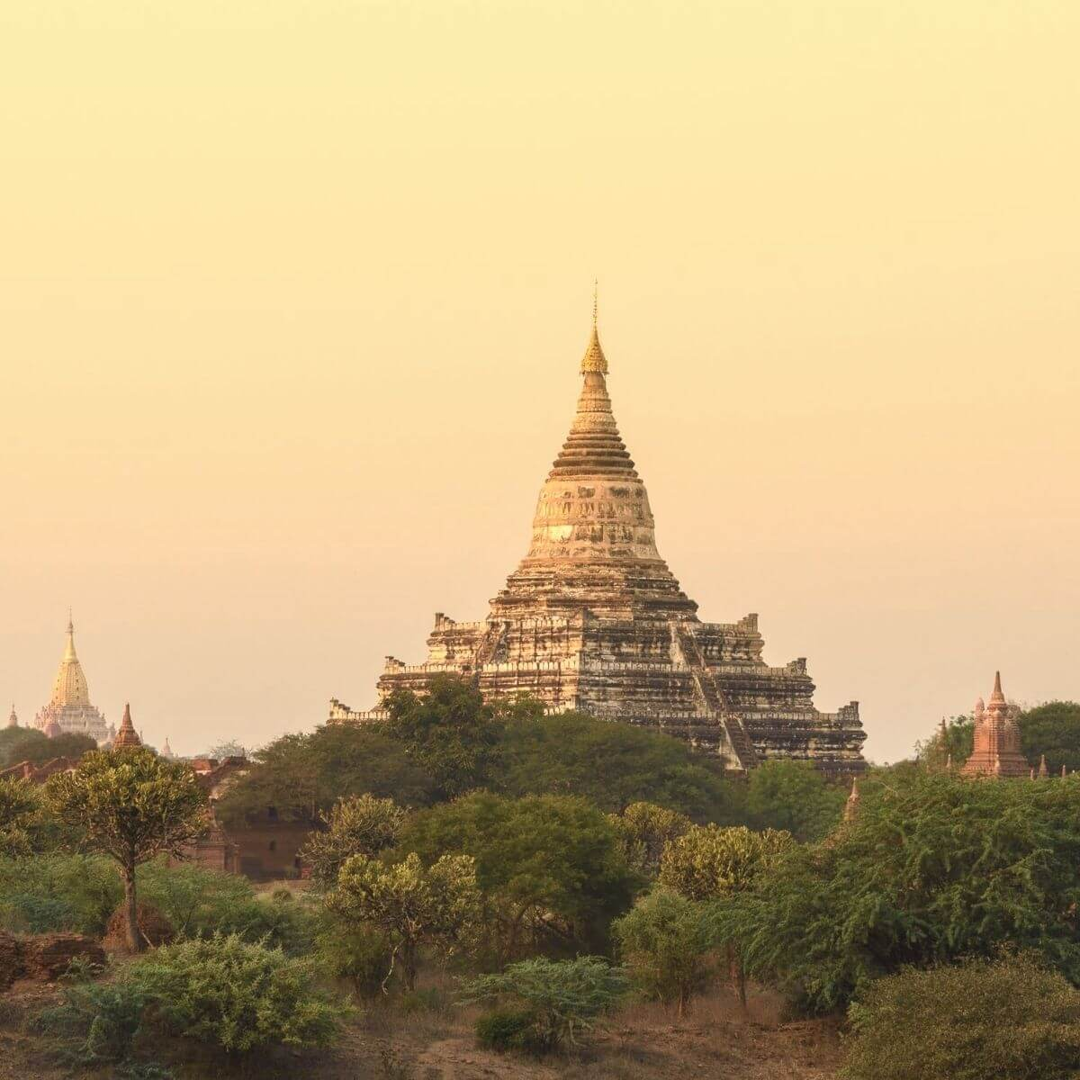 Temples in Bagan, Myanmar.