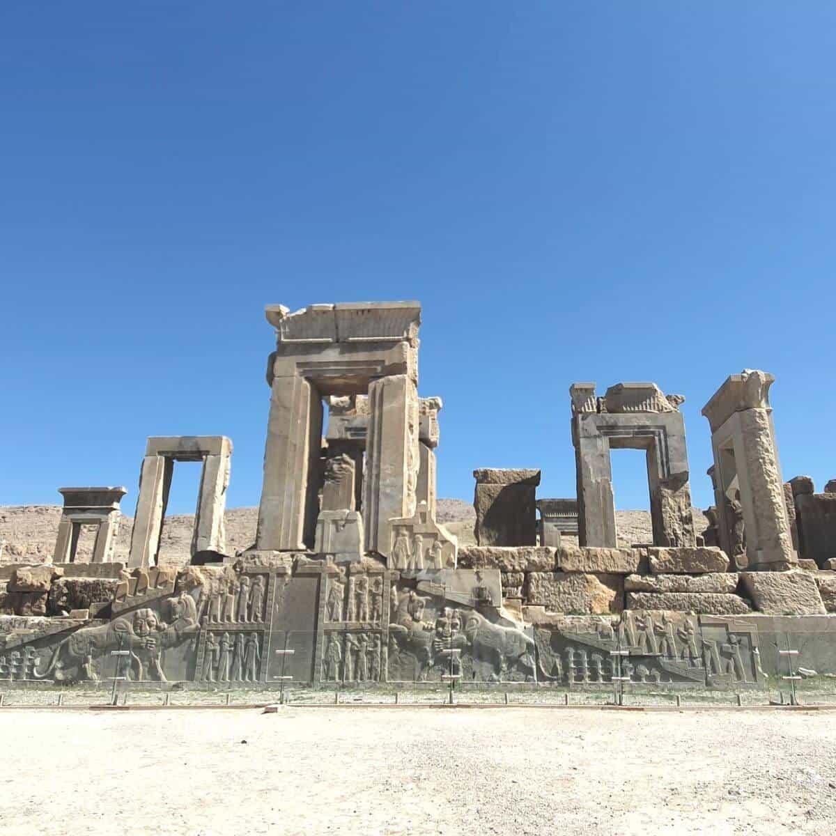 Architecture at Persepolis in Iran.