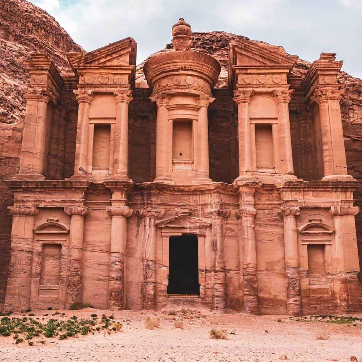 Architecture in Petra, Jordan.