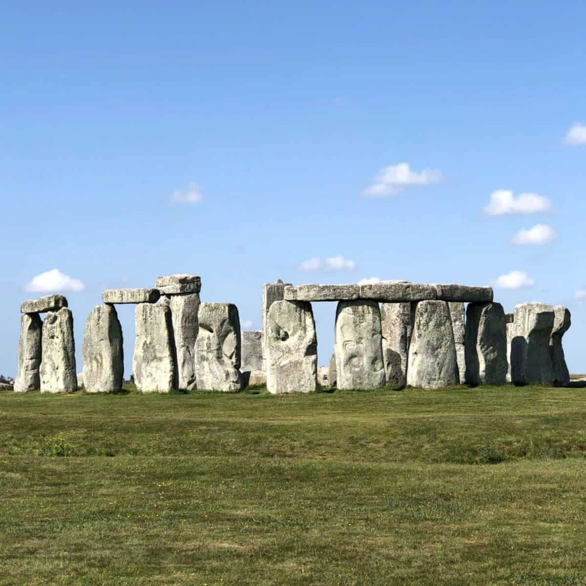 Stonehenge during the day.