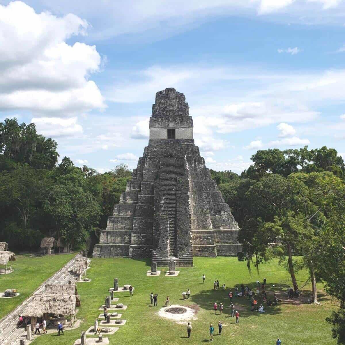 Architecture of Tikal, Guatemala.