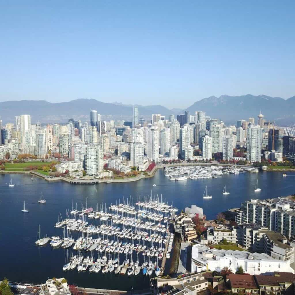Vancouver skyline with the harbor.