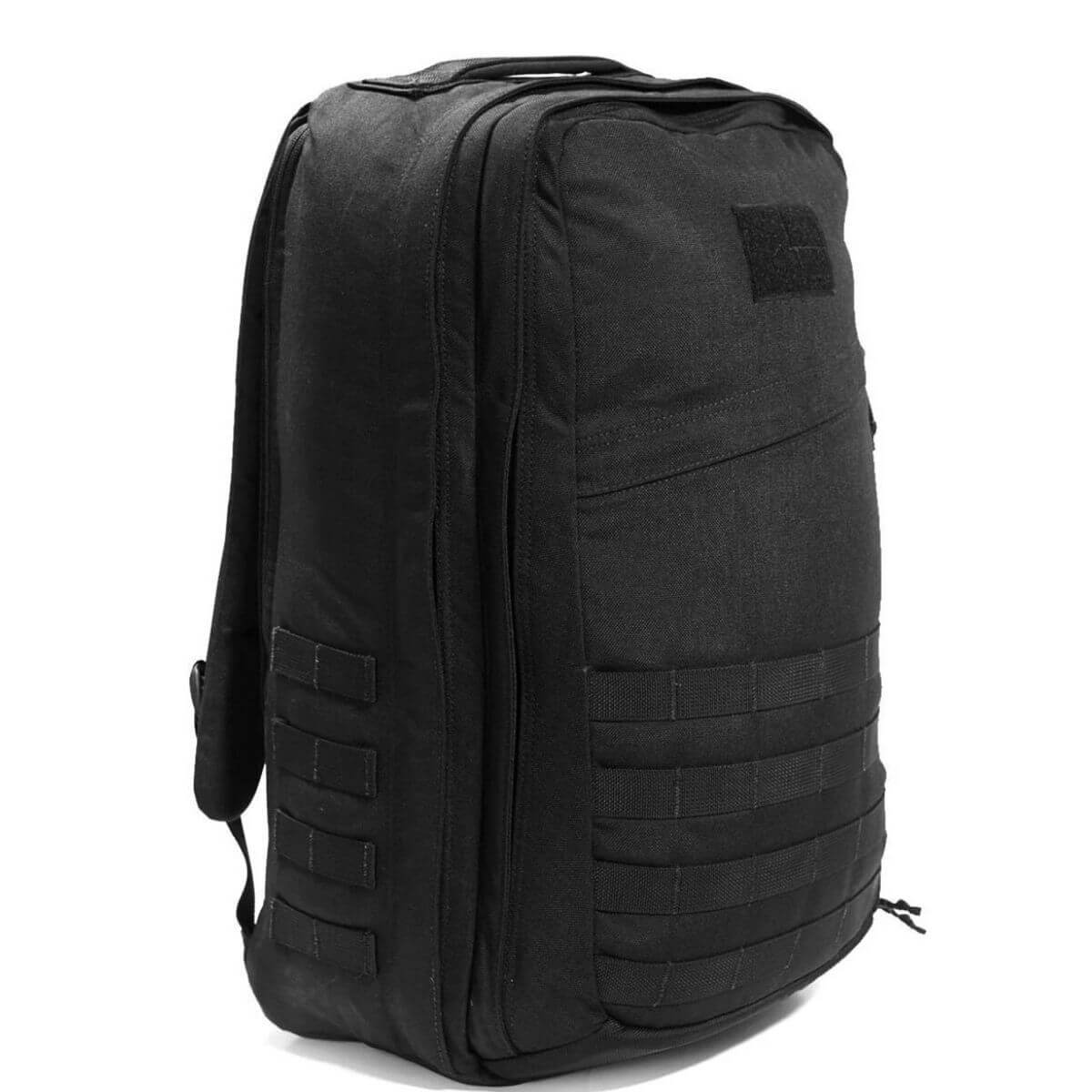 Black GORUCK nylon backpack.