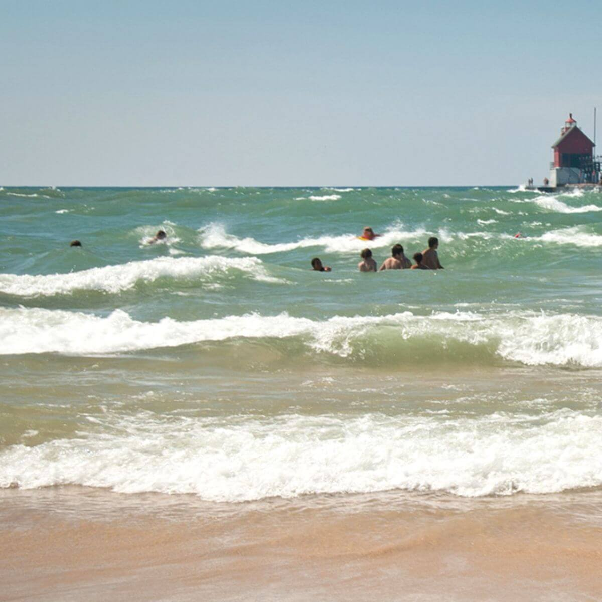 Beach at Grand Haven State Park.