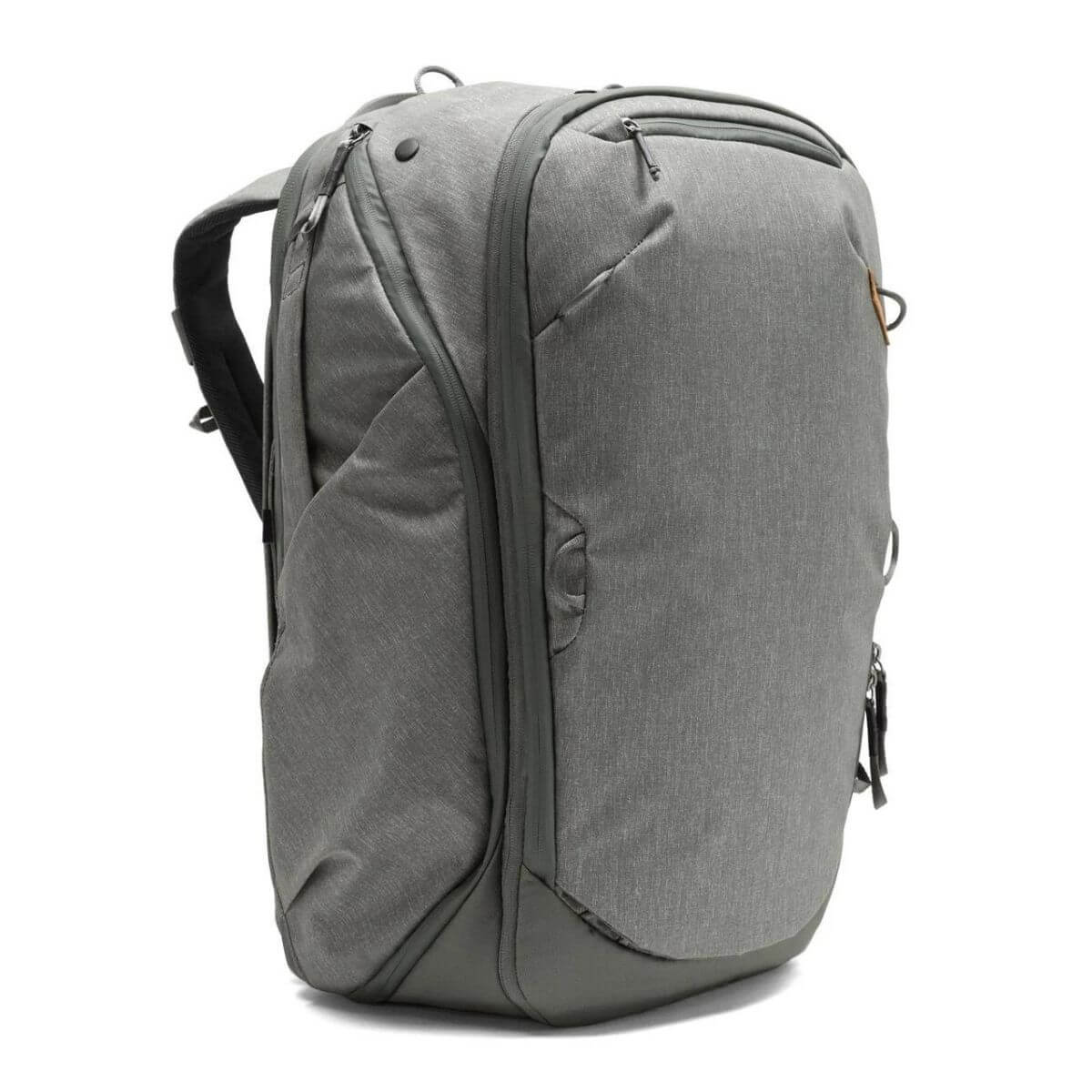 Grey Peak Design travel backpack.