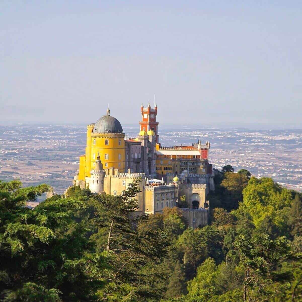 Pena Palace surrounded be trees.