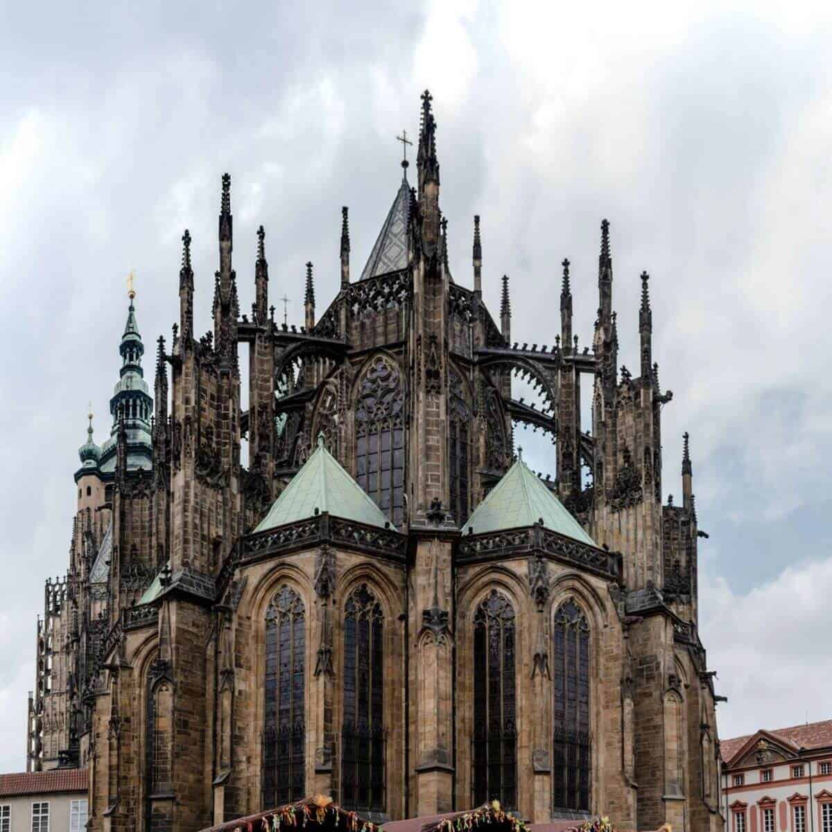 Close-up of Prague Castle.