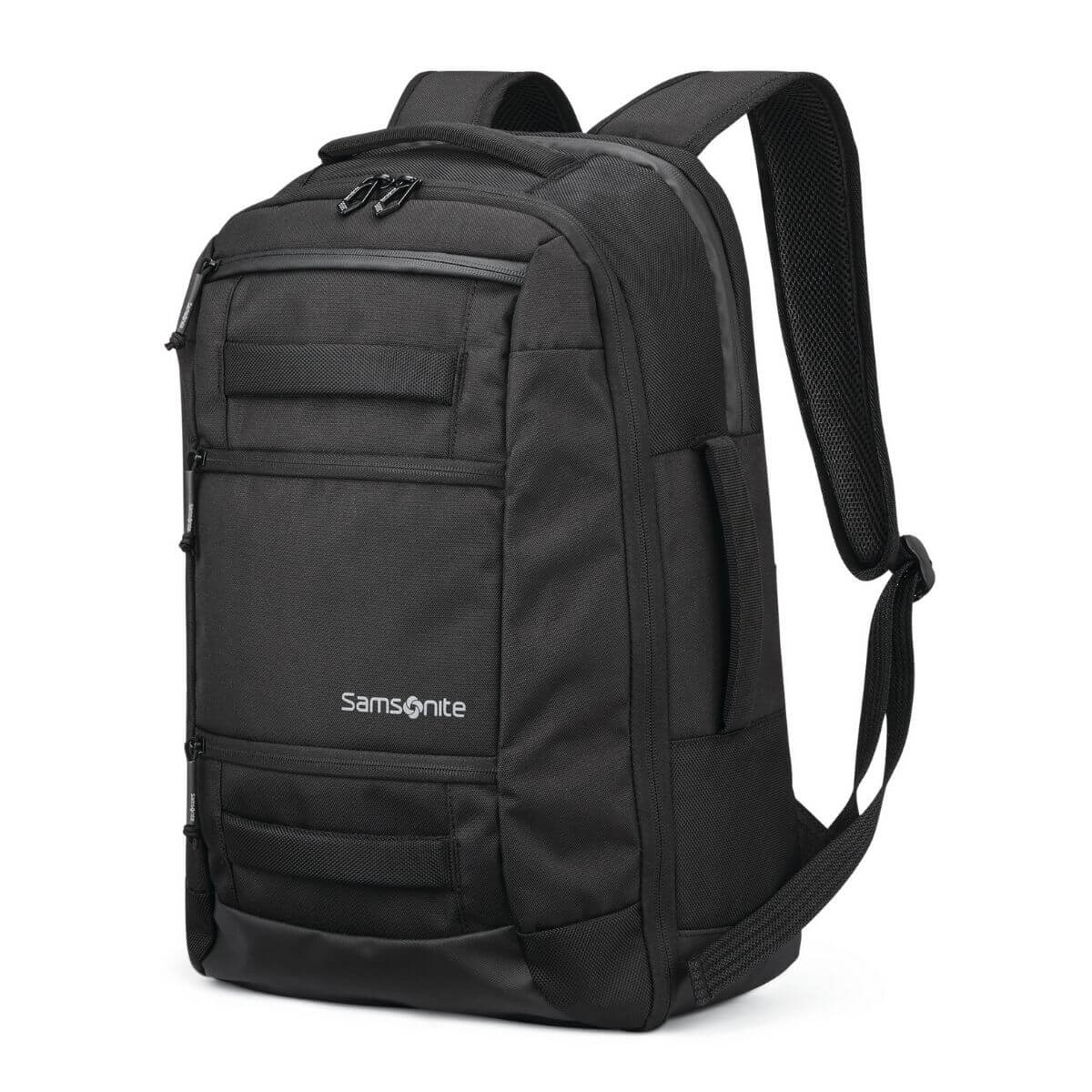 Black Samsonite backpack.