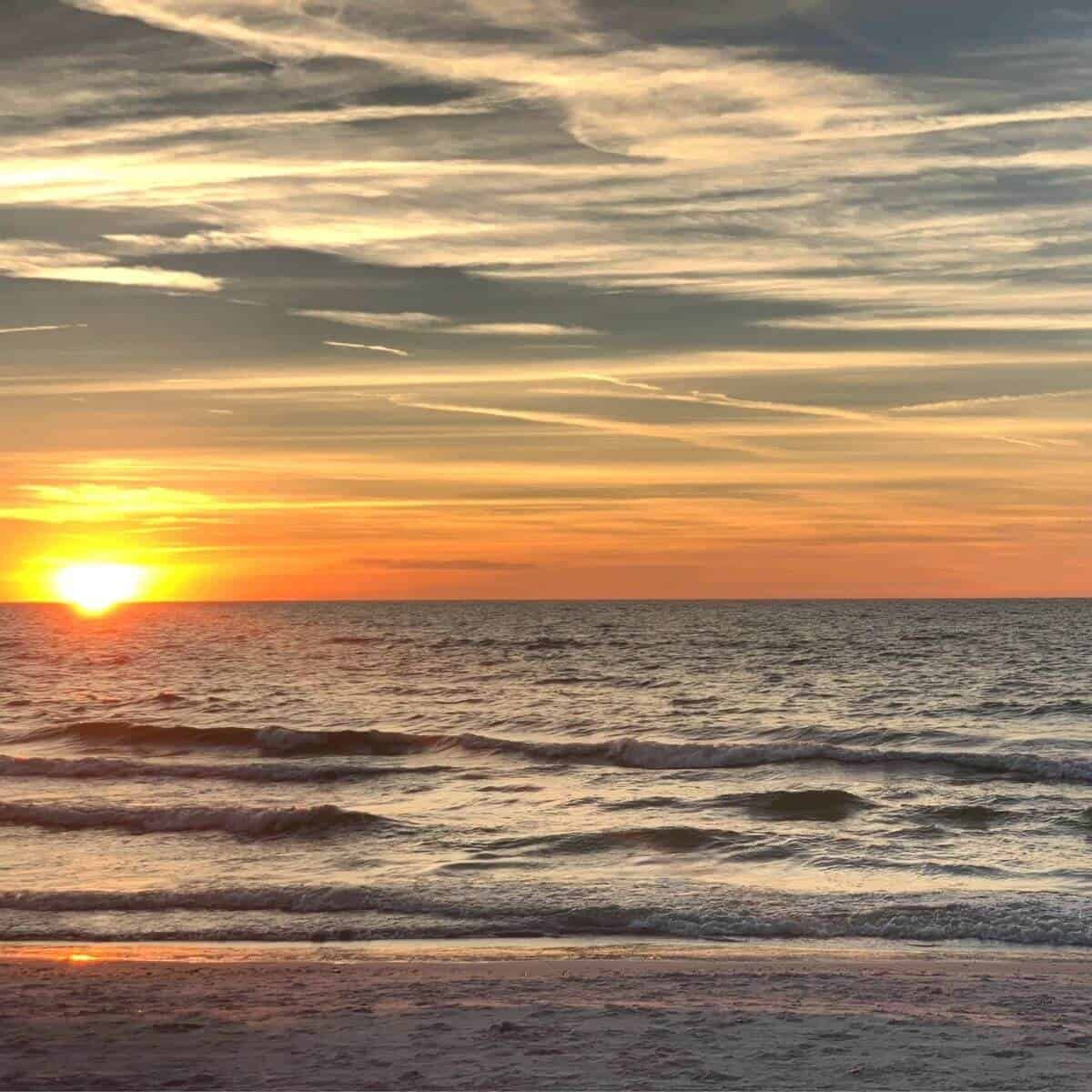 Sunset at St. Pete Beach.