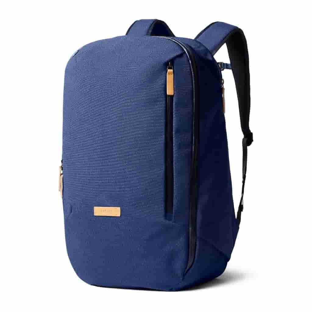 Blue Bellroy Transit Backpack.