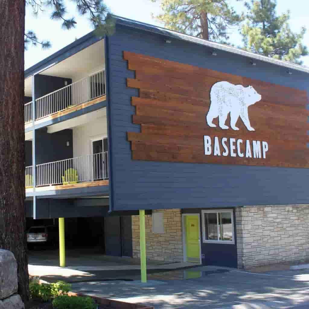 Exterior of Basecamp Hotel.