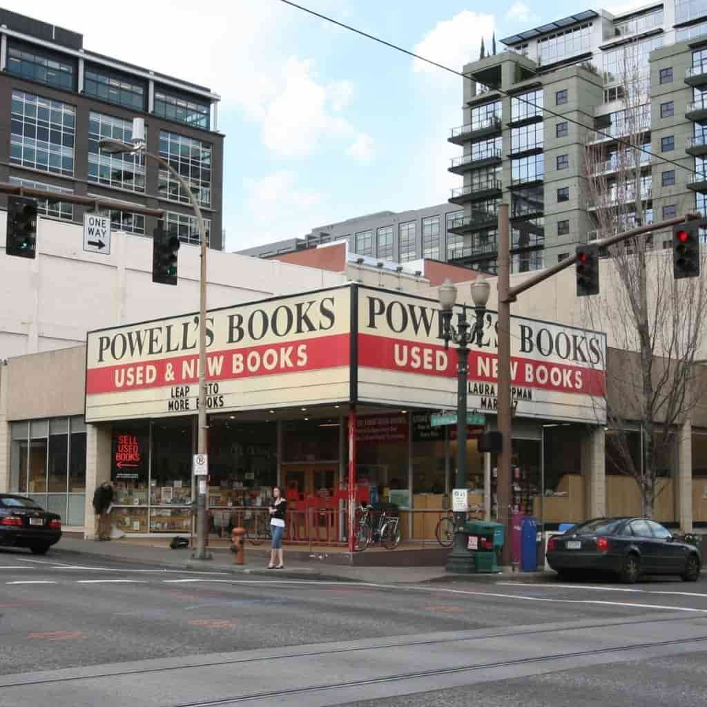 View of Powell's City of Books from the street.