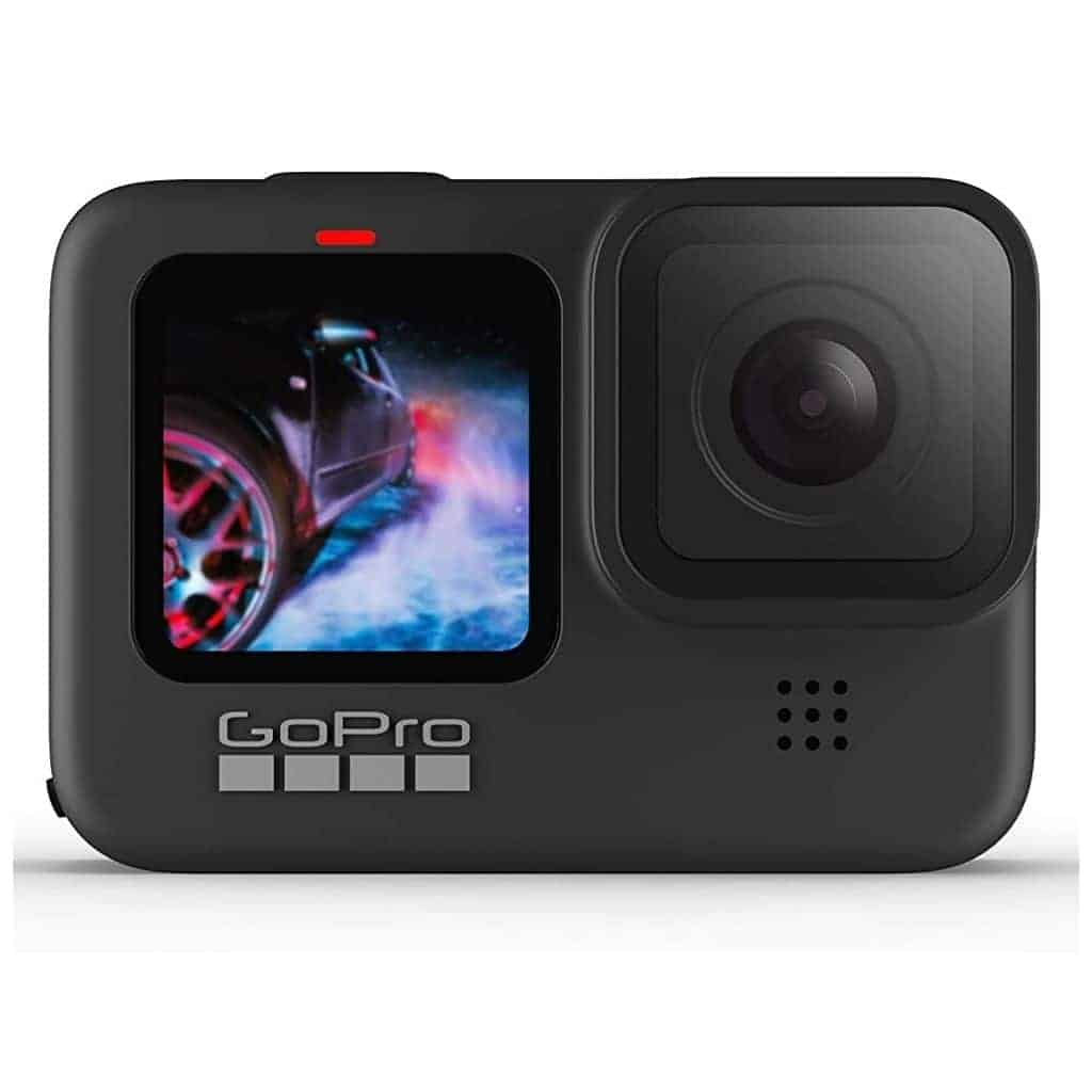 Black GoPro HERO9 camera.