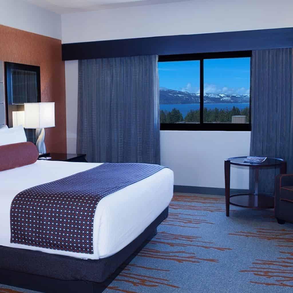 Hard Rock Hotel guest room at Lake Tahoe.