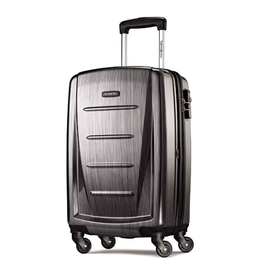Dark grey Winfield 2 hardside luggage.
