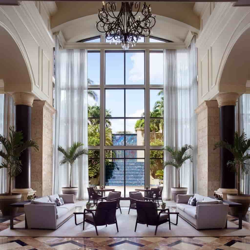 Interior of The Ritz-Carlton Coconut Grove.