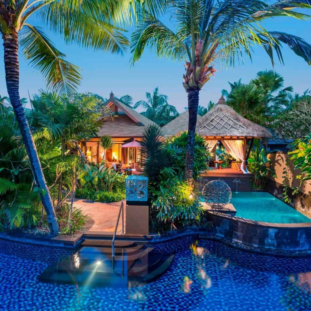 Villa with lagoon access at The St. Regis in Bali.