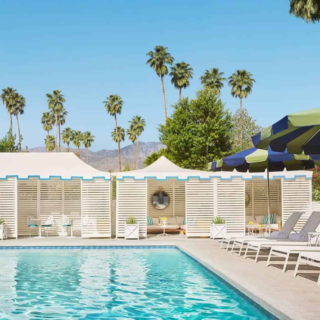 Pool at Parker Hotel in Palm Springs.