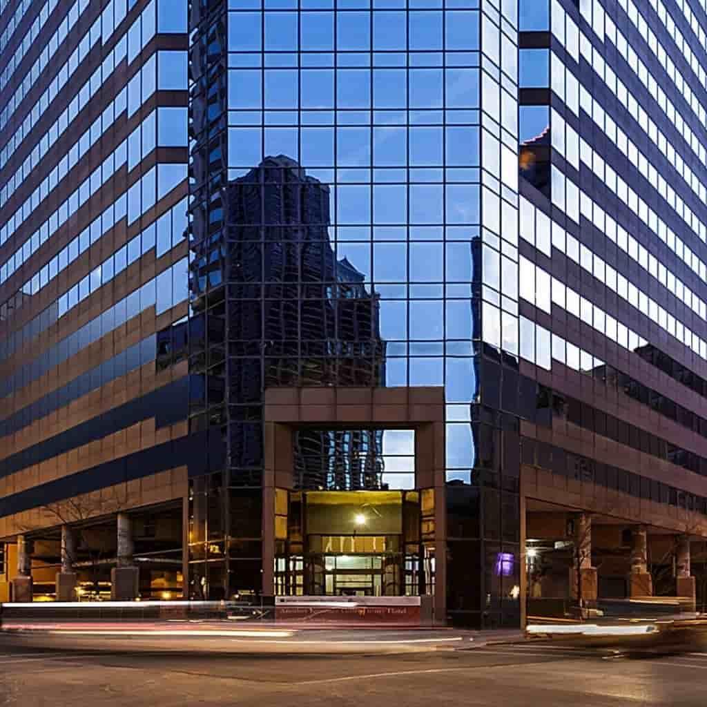 Exterior of Conrad Hotel in Chicago.