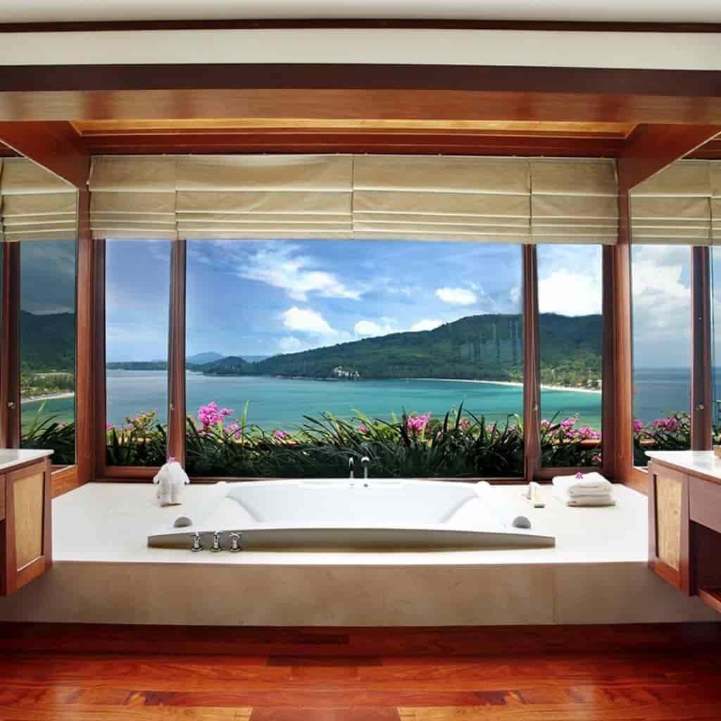 Soaking tub in a villa at Andara Resort in Phuket.